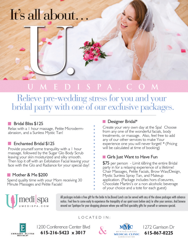 Relieve pre wedding stress for you and your bridal party for Weekend girl getaways spa packages