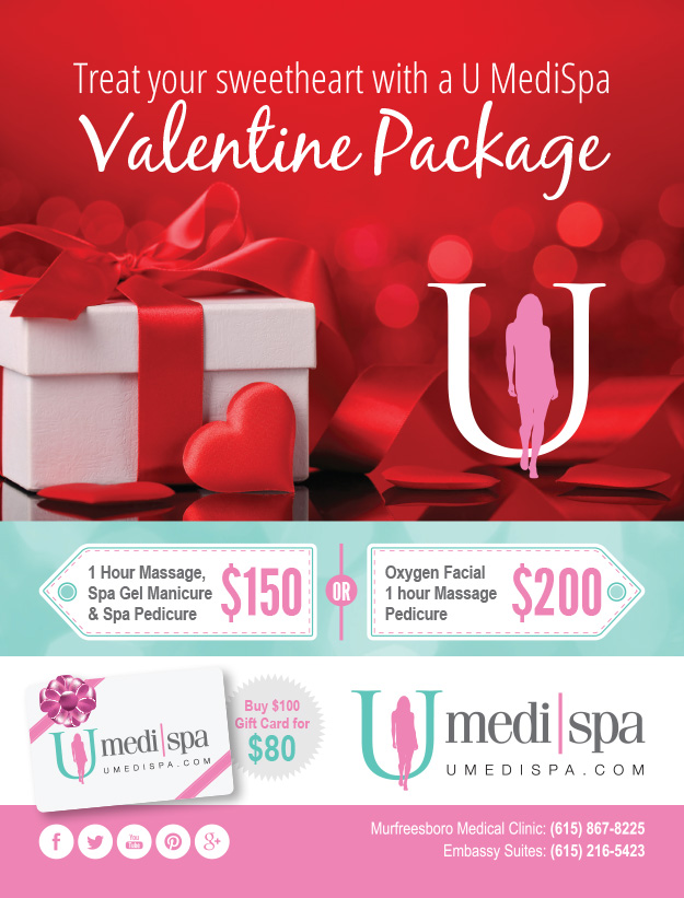 u medispa valentine packages! | u medispa, Ideas